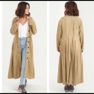 Free People Rainz Duster Coat  XSmall